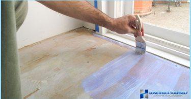 Hur och vad man ska måla golvet