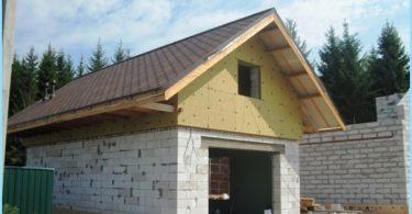Hur man bygger ett garage av skum block