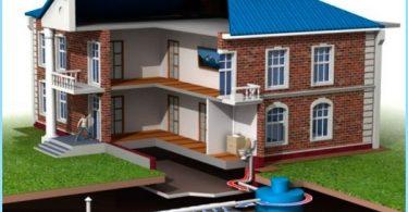 Avloppsvatten i ett privat hus