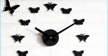 Hur fjärilar på väggen med händerna