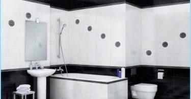 Utformningen av svart och vitt badrum