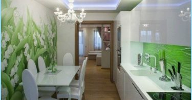Foto vägg i köket, expanderande utrymme