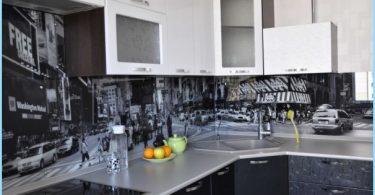 Glas förkläde för kök med foton