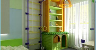 Sportområde i barnens rum