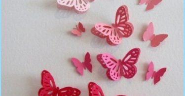 Dekorativa fjärilar att dekorera väggarna
