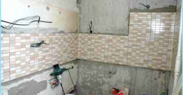 Layouten av ledningar i badrummet