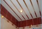 Hur man gör ett rack taket i badrummet